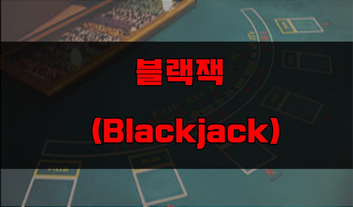 카지노 카드게임 종류 2 - 블랙잭